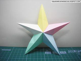 Origami - Estrela de Cinco Pontas PASSO A PASSO