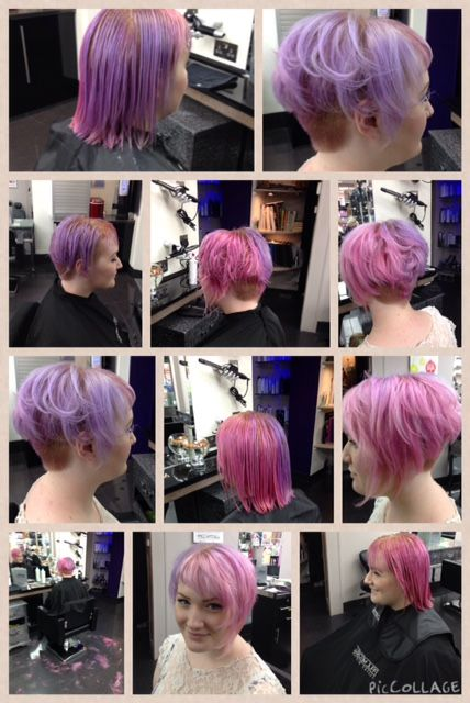 Redesign on Erin Tilleard at the Grove Experience in Eastbourne by Gary Young. #grovecutter #garyyoung #groveexperience #paulmitchell #inkworks #pinkhair