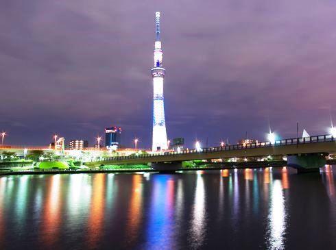 スカイツリー、東京ゲートブリッジが特別ライトアップ!東京オリンピック招致で