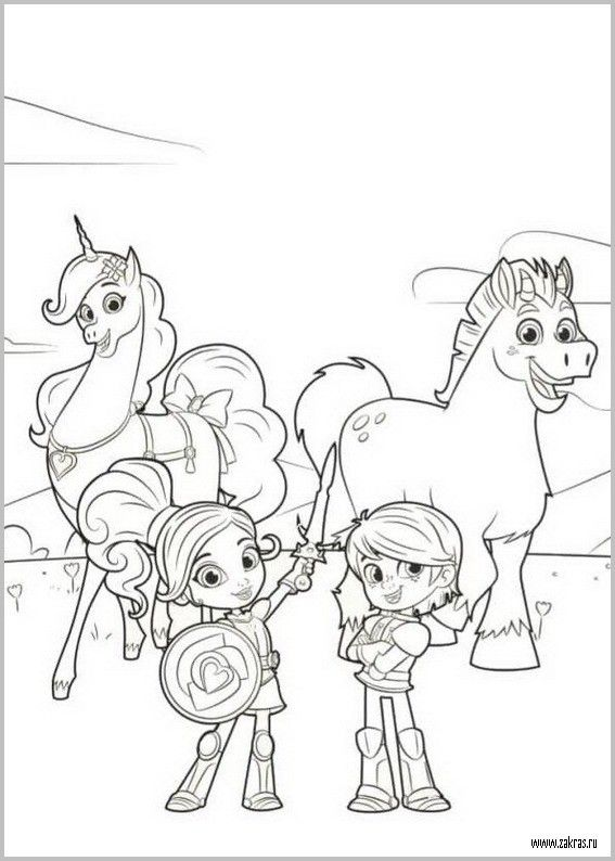 Princess Nella And Sir Garret Coloring Page From Nella The Princess Knight Princess Coloring Pages Coloring Pages Princess Coloring