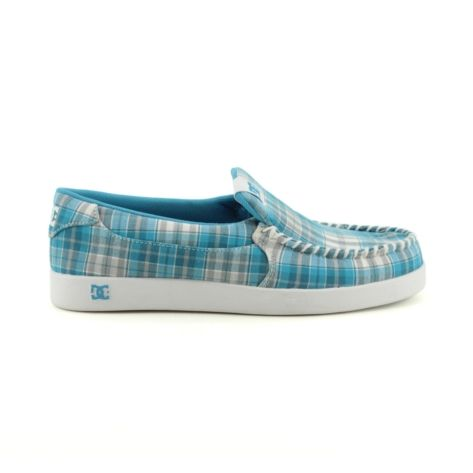 Shop for Womens DC Villain TX Skate Shoe in Ocean BlueWhite Plaid at Journeys Shoes. Shop today for the hottest brands in mens shoes and womens shoes at Journeys.com.This Villains your friend, DC slip-on style skate kick with a plaid textile upper, moc toe, elastic gore for easy on-and-off, and double-stitching for durability.