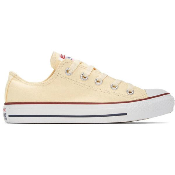 Converse Off-White Classic Chuck Taylor All Star OX Sneakers (65 CAD) ❤ liked on Polyvore featuring shoes, sneakers, low top, lacing sneakers, rubber sneakers, off white sneakers and lace up shoes