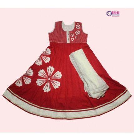 Red Cotton Salwar Suit