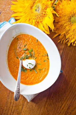 Chilled Carrot Soup | Things I want to cook | Pinterest