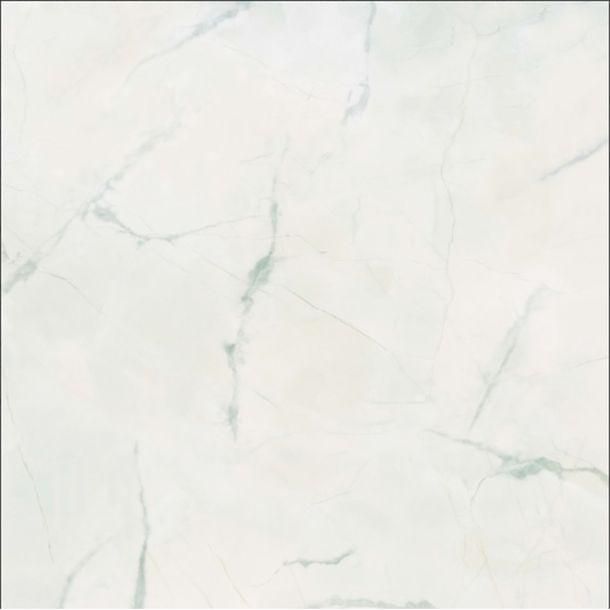 Piso ceramico tipo marmoleado. Acabado brillante en color blanco. Ideal para instalacion en interior. Cocina o baño. Uso residencial.