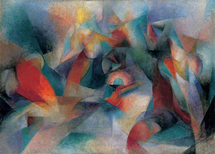 "Stanton Macdonald-Wright, ""Oriental""; Synchromy in Blue-Green, 1918 52.8"