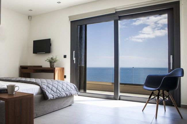 Attractive double bedrooms, all with their own private balconies.