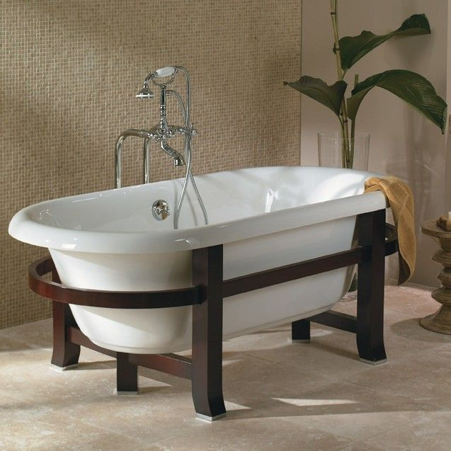 116 best images about claw foot bathtub on pinterest for Modern claw foot tub