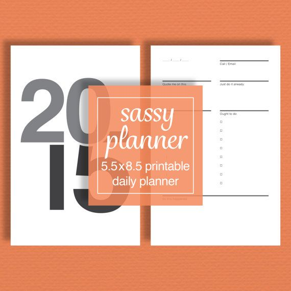 Daily Planner Pack Printable   Perpetual Calendar by sassyplanners
