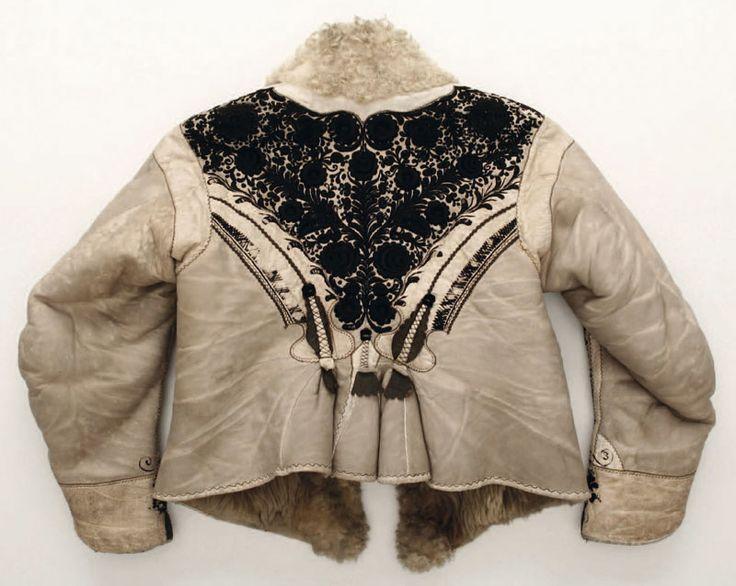 Hungarian Kodmon sheepskin jacket, detail, back.