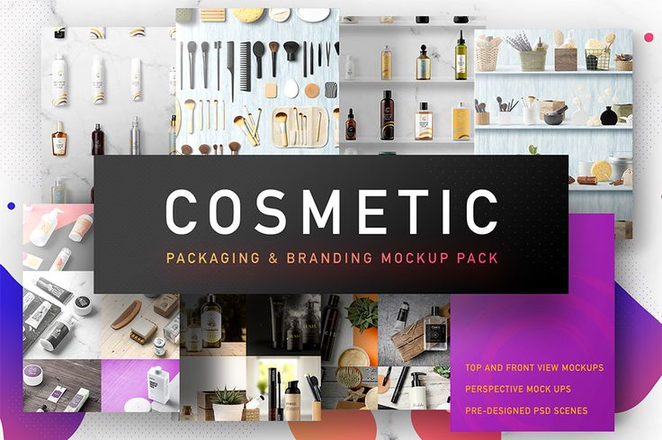 Cosmetic Packaging Branding MockUp from The Mockup Zone. The Gigantic Mockup Templates Bundle. The most comprehensive and high quality cosmetic products and elements mockup pack. In this pack you will find  a ton of different packages and awesome items that fit fabulously with each other. Completely customizable bottles, sprays, dispenser bottles and many more different types of packages – all in one. Also all of them come with top and front views. You can create unlimited presentations.