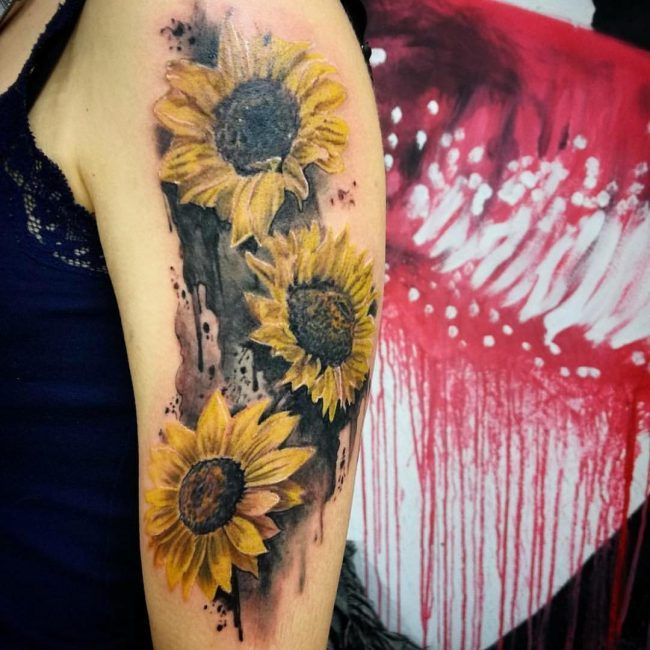 sunflower tattoo images - HD 1080×1177
