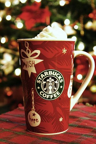 Starbucks....awwwawww you know the holidays are here welhen you see the pretty red cups!!!    <3
