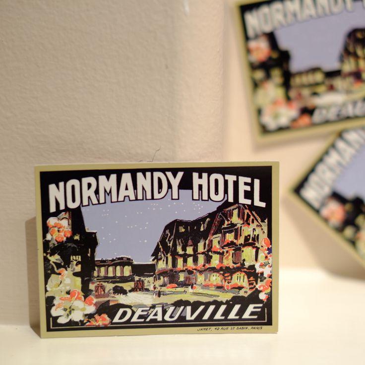 "#4111 Normandy Hotel Paris Vintage Retro Luggage Label 2.5x3.5"" Decal Sticker - DecalStar.com"