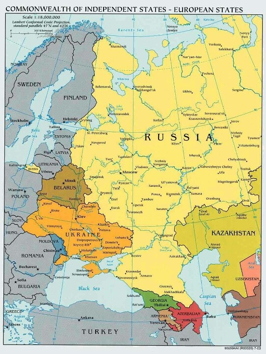 Map Of Russia And Eastern Europe - LoveLuxleBlog
