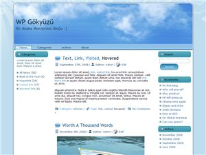 wordpress gök yüzü teması, wp sky theme