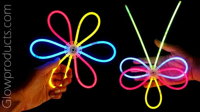 Make fun glow crafts and glow party decorations! http://glowproducts.com/funlightupaccessories/lenpartypack/