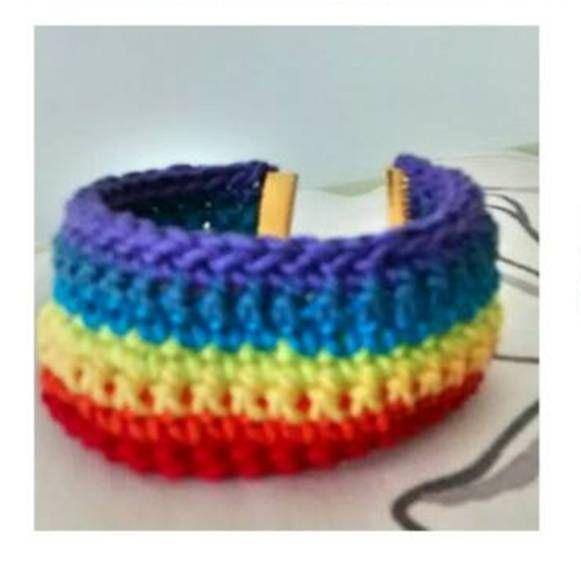 Pulsera #Chakras de #Hilaza #crochet