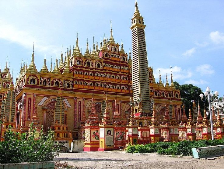 """""""The major tourist attraction in Monywa is Mohnyin Thambuddhei Paya, a Buddhist temple with a huge stupa resembling Indonesia's Borobudur. It dates from 1303, although it was reconstructed in 1939. It is said to contain over 500,000 images of Buddha"""" More: http://en.wikipedia.org/wiki/Monywa"""