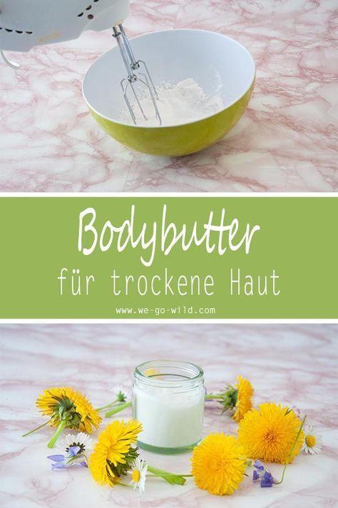 Bodylotion selber machen mit Sheabutter und Kokosöl für trockene Haut