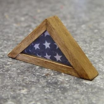 Folded American Flag in Display Case