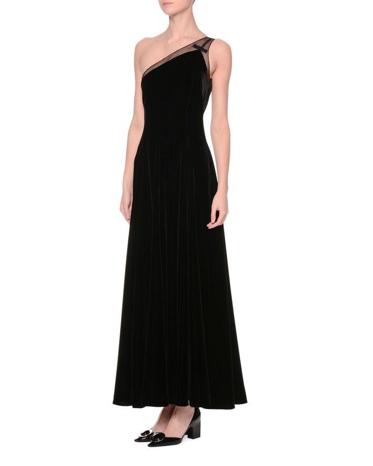 Giorgio armani one shoulder a line gown black girly for Giorgio armani wedding dress