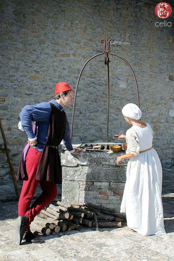 15th century couple. Renaissance in San Leo.