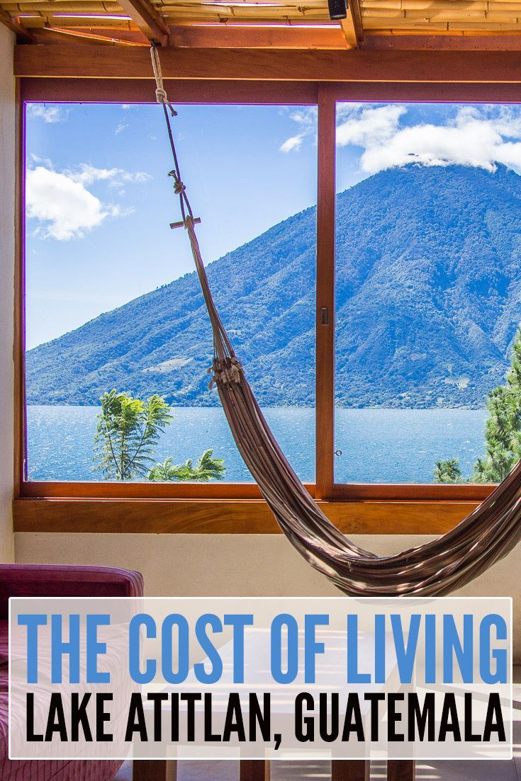 Find out how much it costs to live in the  village of San Marcos La Laguna on the shore of Lake Atitlan in Guatemala. This was the view from our apartment at Pasajcap for the 2.5 months  we spent living there.