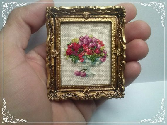 Fruiterer, Miniature, doll House, cross stitch