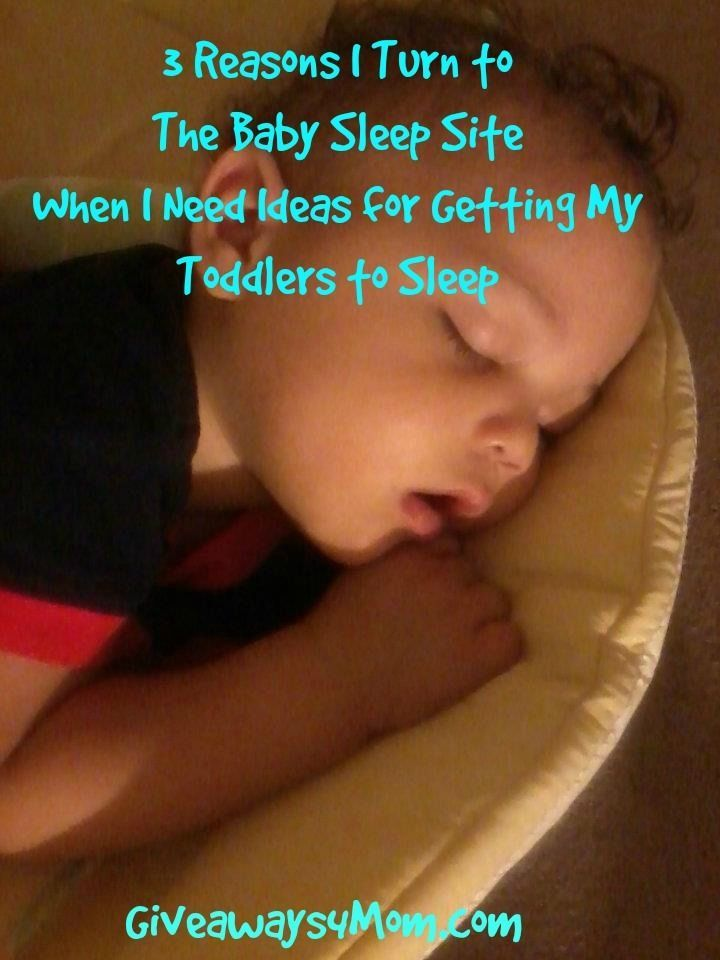 3 Reasons I Turn to The Baby Sleep Site When I Need Ideas for Getting My Toddlers to Sleep (Giveaway Ends 11/8) http://giveaways4mom.com/2016/11/3-reasons-turn-baby-sleep-site-need-ideas-getting-toddlers-sleep/