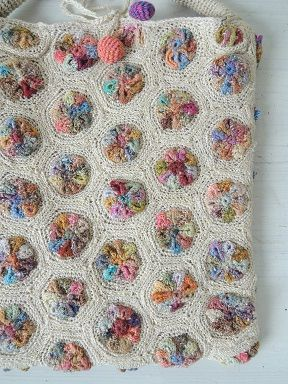 Sophie Digard crochet purse;  wouldn't this make a great  baby blanket