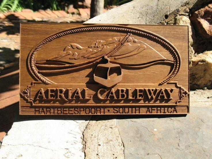 Aerial Cableway - Logo in wood