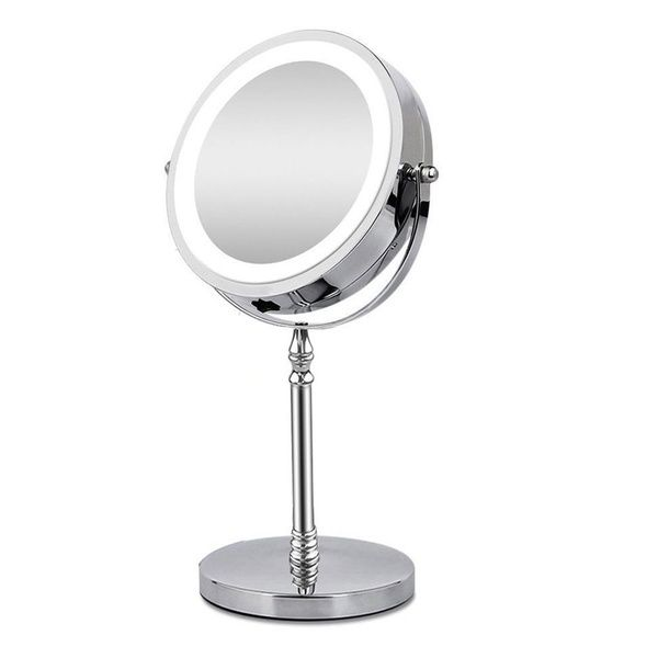 7 Makeup Mirror With Light 1x 10x Magnifying Double Sided 360 Rotation Portable Stainless Steel T Makeup Mirror Magnifying Mirror Makeup Mirror With Lights
