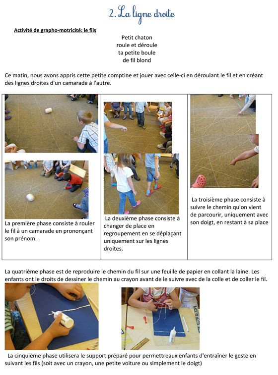 following lines; gross motor kinesthetic activity followed by fine motor tactile