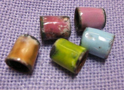 How to turn a pipe into enameled beads from New Jewelry A Day