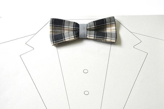 Gingham mens bow tie.  Its pre-tied bow tie for men. It has an adjustable strap from the same fabric.  Fabric: 100 % cotton Colour: beige, black,