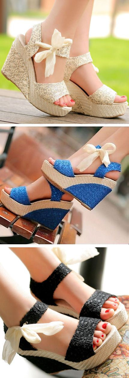 Lace Wedges - These are pretty cute, and would be especially so with a nice spring-like dress. ^-^