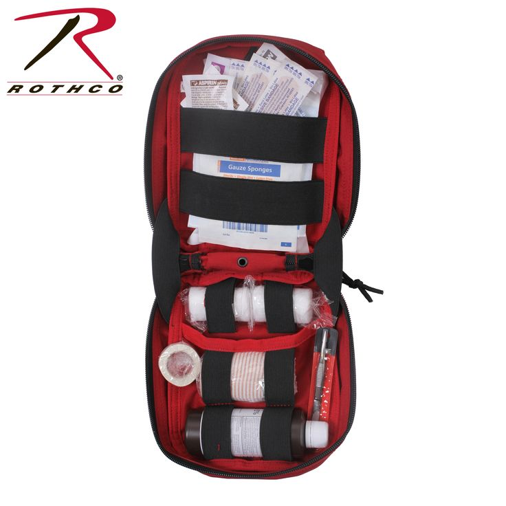 Rothco's MOLLE Tactical First Aid Kit is a compact and portal MOLLE pouch which is designed to be attached to your MOLLE compatible tactical equipment and can be used on gear like our Transport Packs or Tactical Plate Carrier Vests.