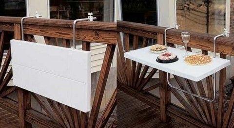 Ideas de mesas plegables para terrazas pequeñas - Decoracion