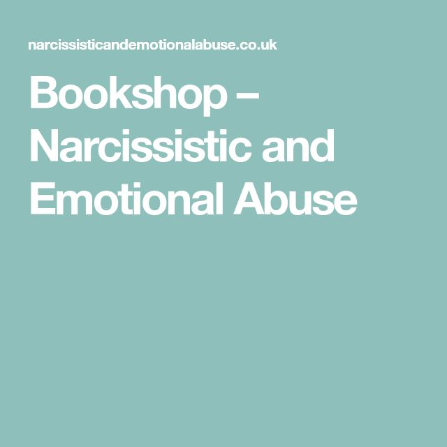 Bookshop – Narcissistic and Emotional Abuse