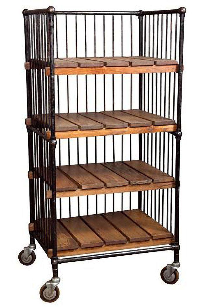 Get Back Inc, American Vintage Industrial Bindery Cart, Vintage Bakers Rack,  Vintage Shelf