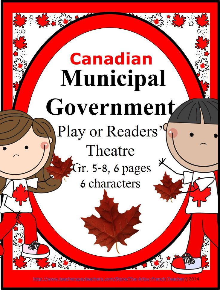 Canadian Municipal Government Play or Readers' Theatre is a 5 page intro or summary of local government.  It can be accompanied by the Canadian Federal Government and Canadian Provincial and Territorial Government Play or Readers' Theatre.  Employing humour and simple props, it can be used to introduce government in an engaging, palatable way to our grade 5-8 students. It can also be used to introduce the new Gr. 5, Ontario Social Studies' Inquiry-based Research Expectations. tpt $