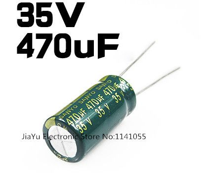 35V 470UF 470UF 35V High frequency low resistance Electrolytic Capacitors Size:10*13 10*17