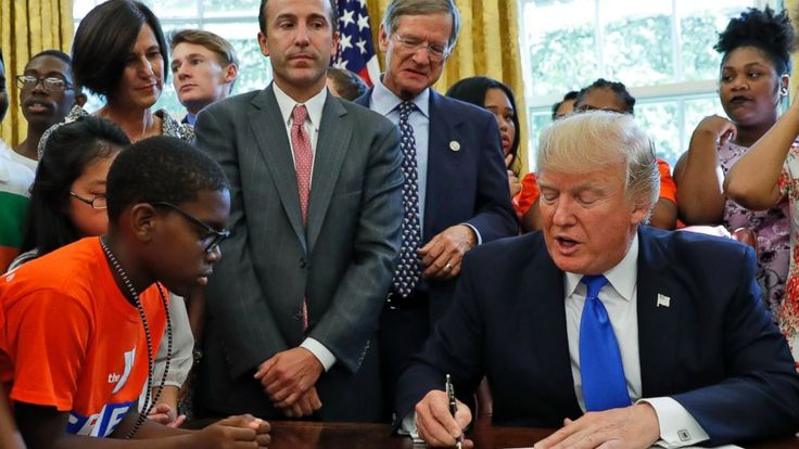 President Donald Trump on Monday directed his education secretary to prioritize science and technology education and spend at least $200 million annually on competitive grants so schools can broaden access to computer science education in particular.  During an Oval Office appearance, where he... - #Computer, #Directs, #Ed, #Prioritize, #Scien, #Secretary, #TopStories, #Trump