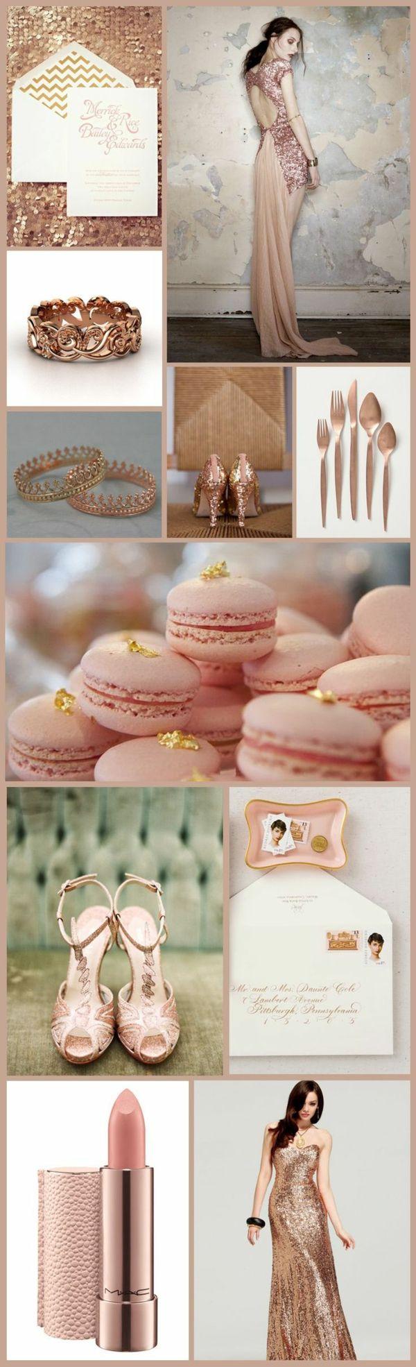 Robes roses pour un mariage de princesse