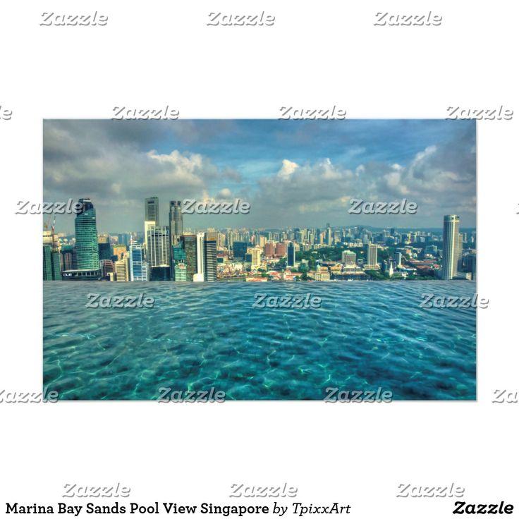 Marina Bay Sands Pool View Singapore Photo Print