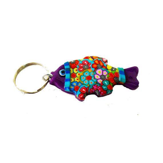 Fish key chain keychain key holder unique key chain bag