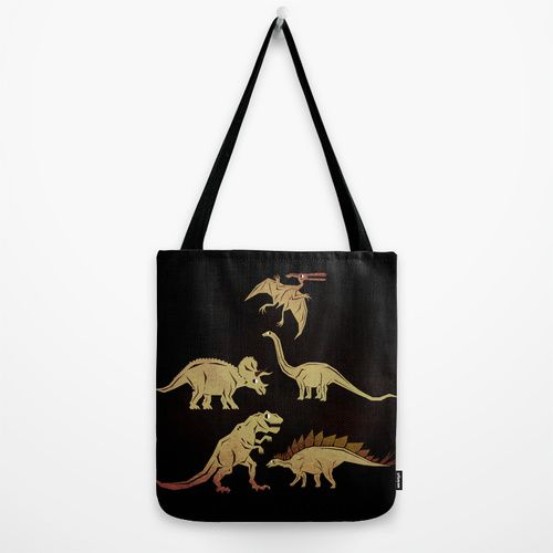 Dinosaurs Tote Bag by chobopop | Society6
