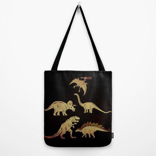 Dinosaurs Tote Bag by chobopop | Society6