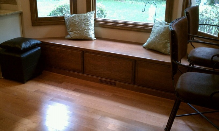 Cherry Wood Components To Match The Kitchen Island